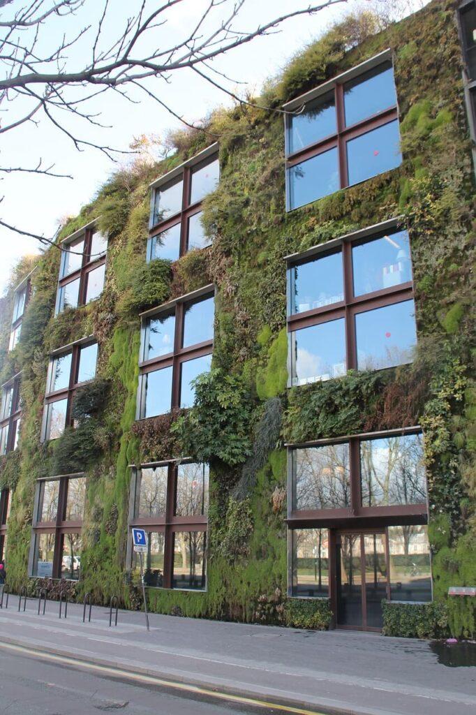 Vertikální zahrada na budově